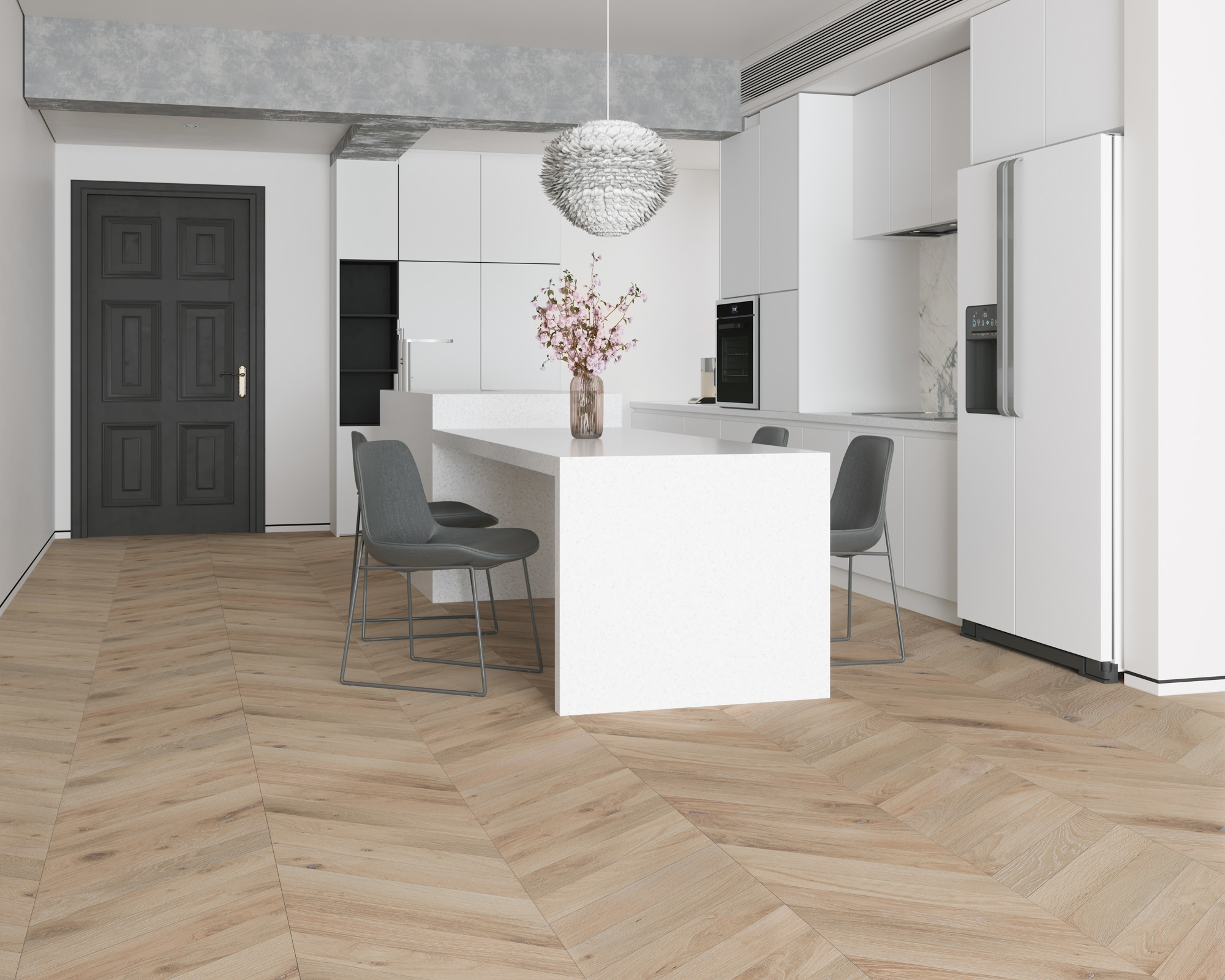 Beach Sand Chevron Flooring
