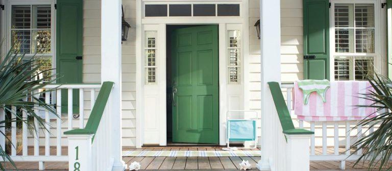 Green Door Painting