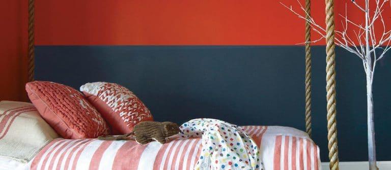 Red Painting kids bedroom