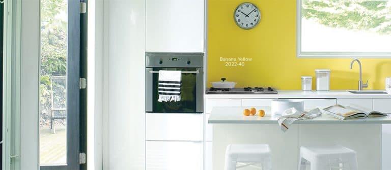 Yellow kitchen cabinet Paint