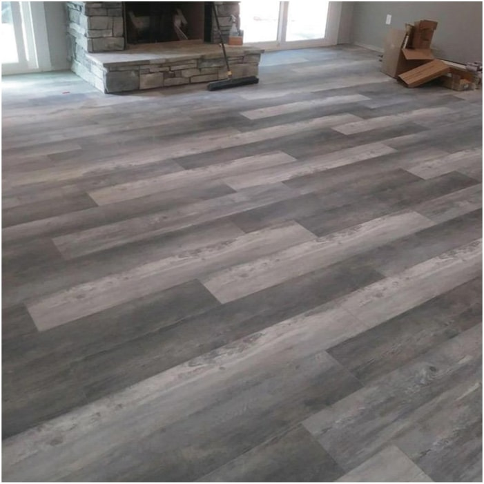 Burnt Grey Luxury Vinyl Flooring